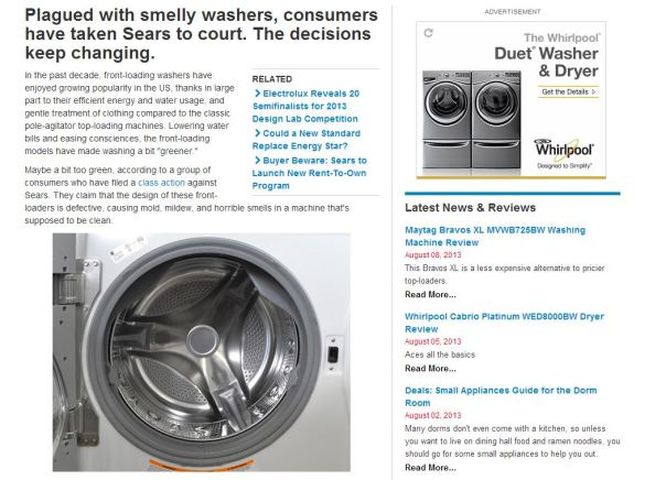 Washer Page
